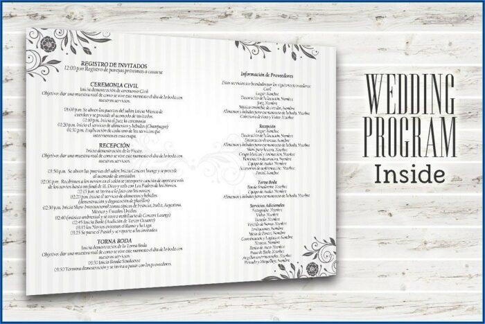Wedding Program Templates Psd