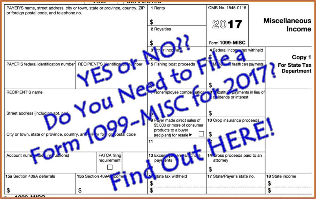 Where Do I File 1099 Misc Form