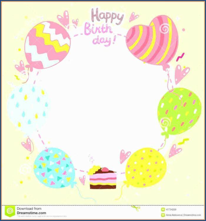 Wife Birthday Card Template Word