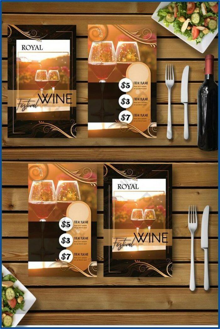 Wine Menu Template Free Download