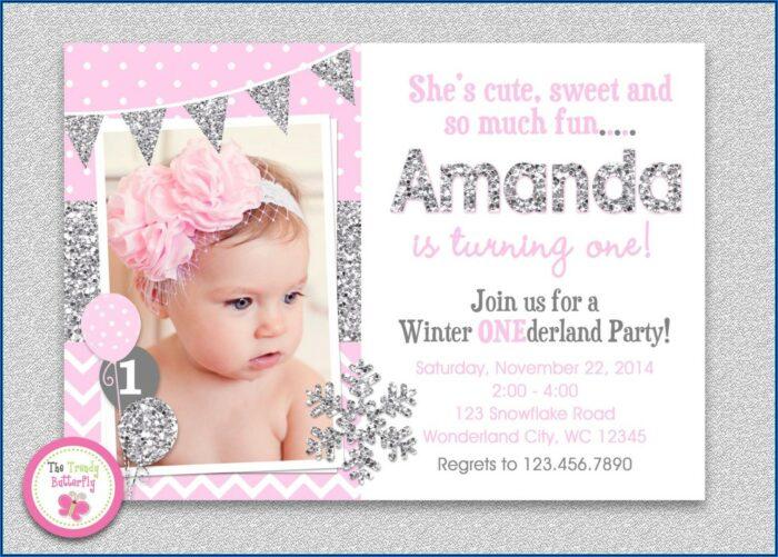 Winter Wonderland Birthday Invitations Templates
