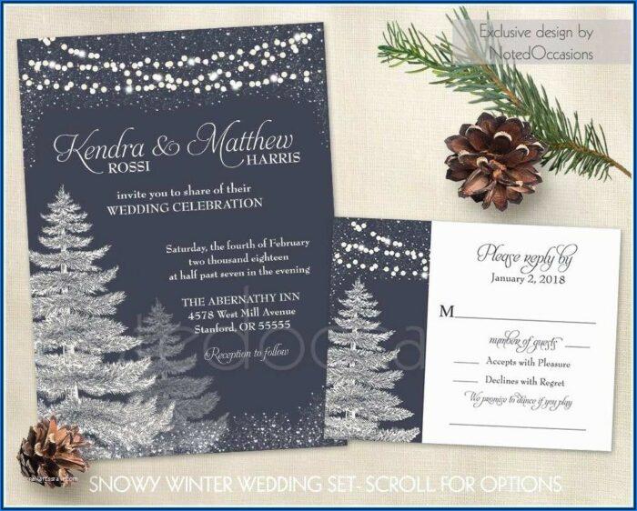 Winter Wonderland Wedding Invitation Templates
