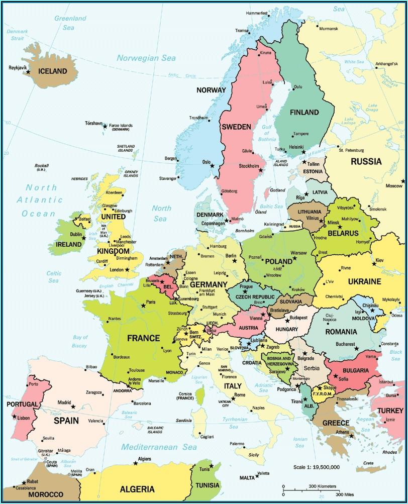 World Atlas Book Europe Political Map