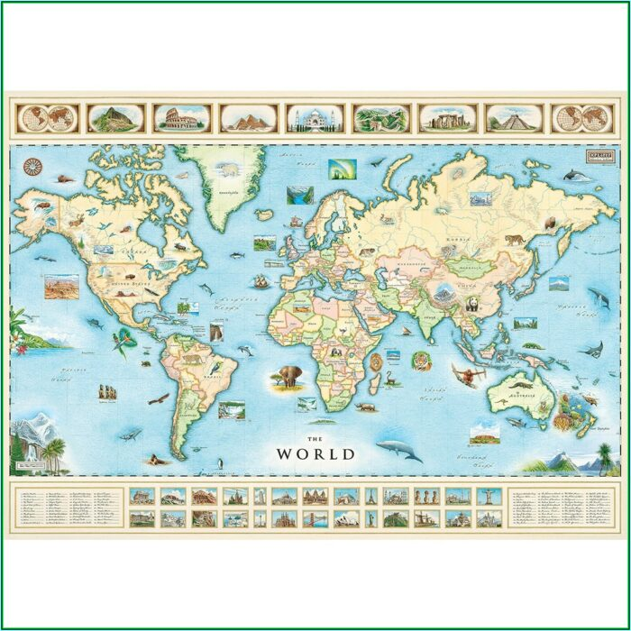 1000 Piece Jigsaw Puzzle World Map