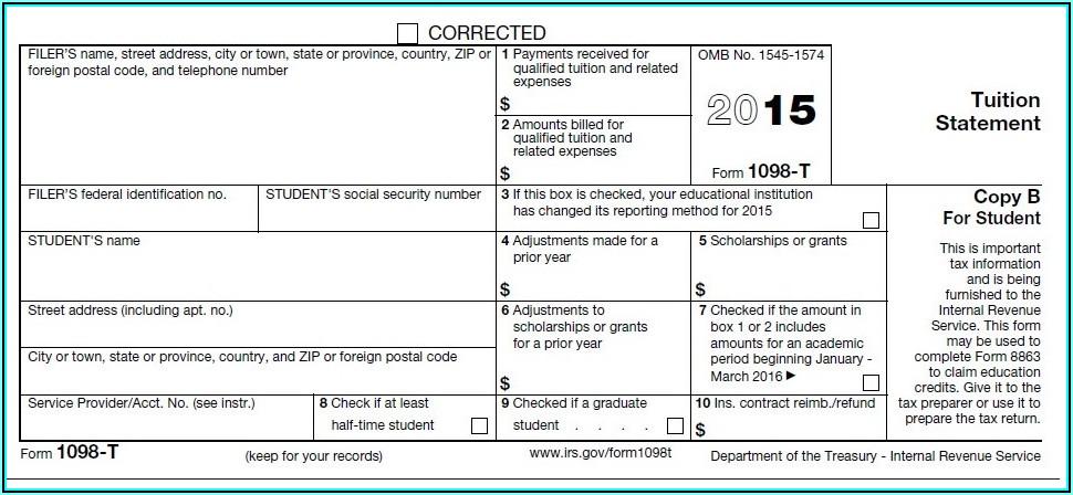 1098 T Form Box 2 Blank