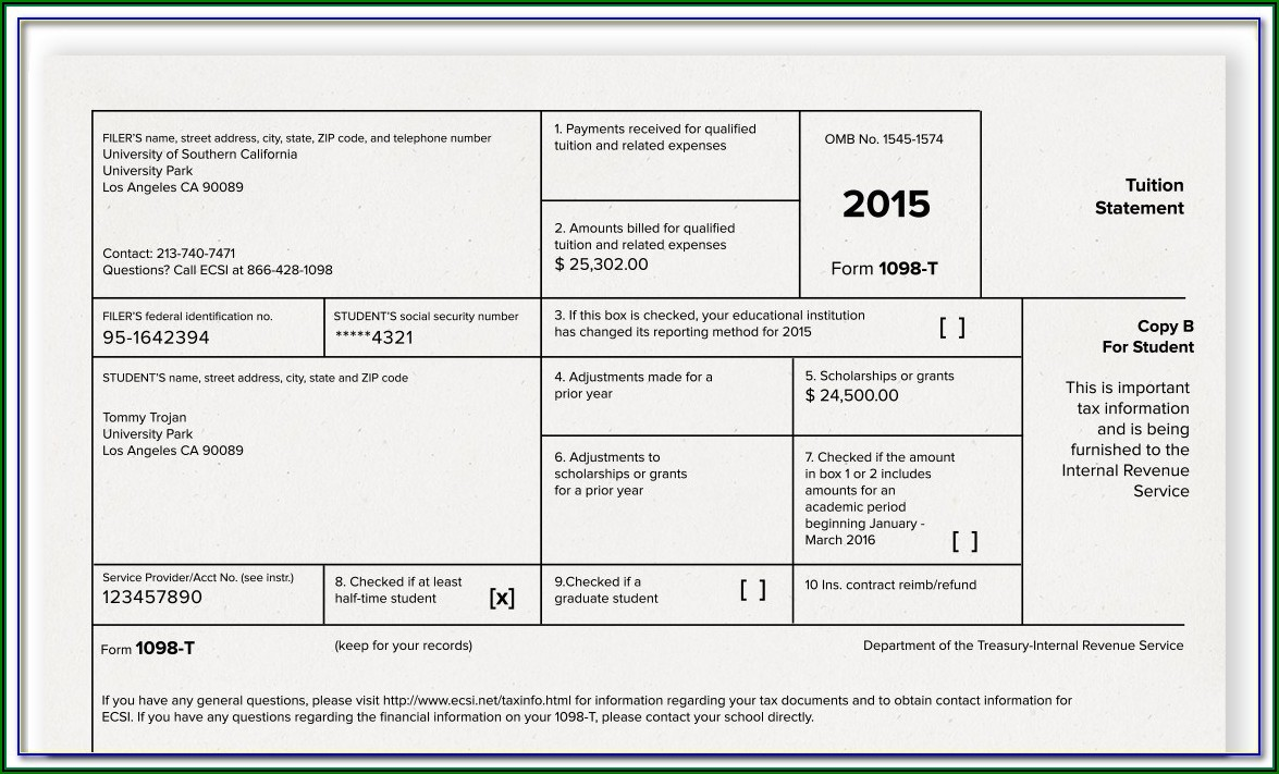 1098 Tax Forms