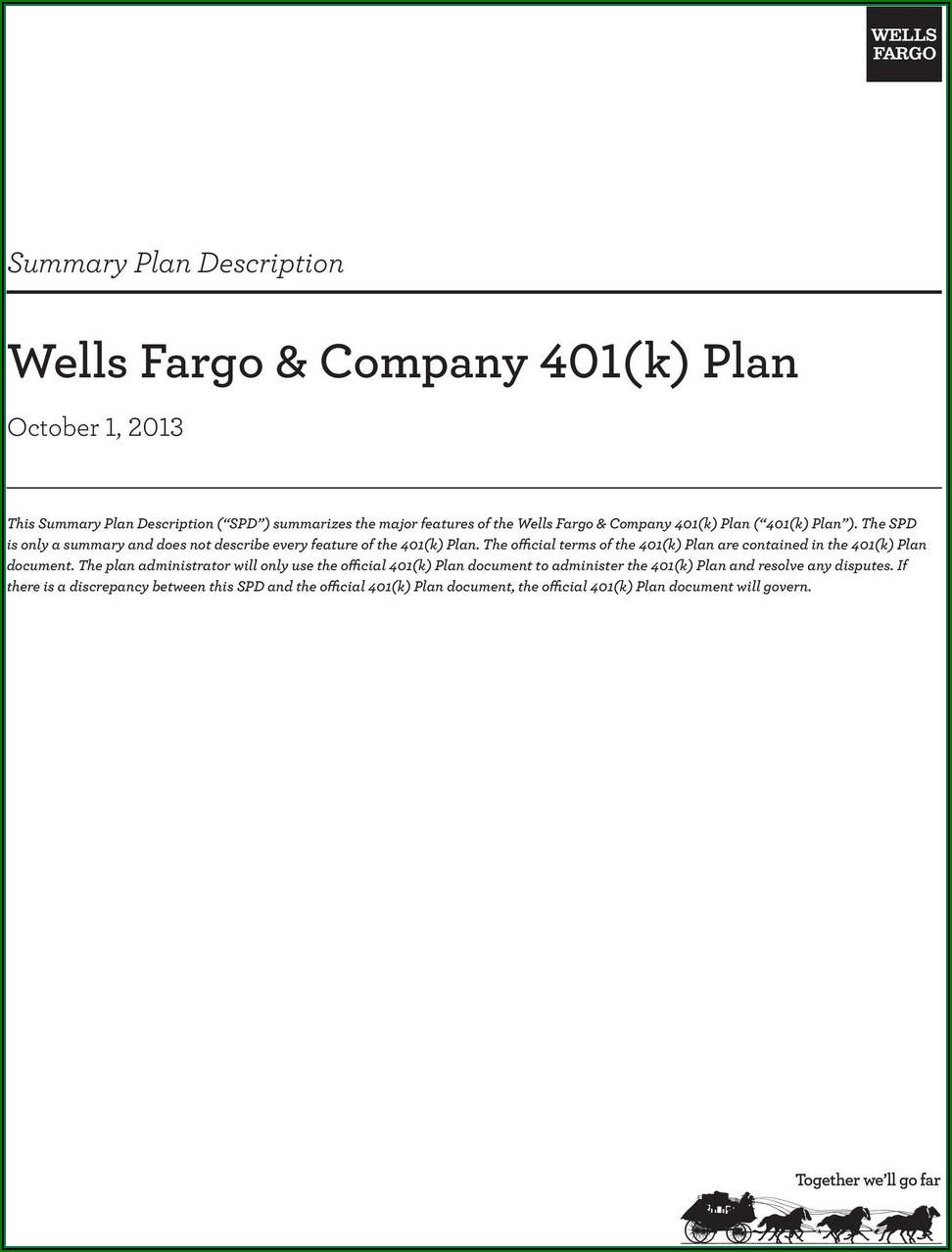 401k Rollover Form Wells Fargo
