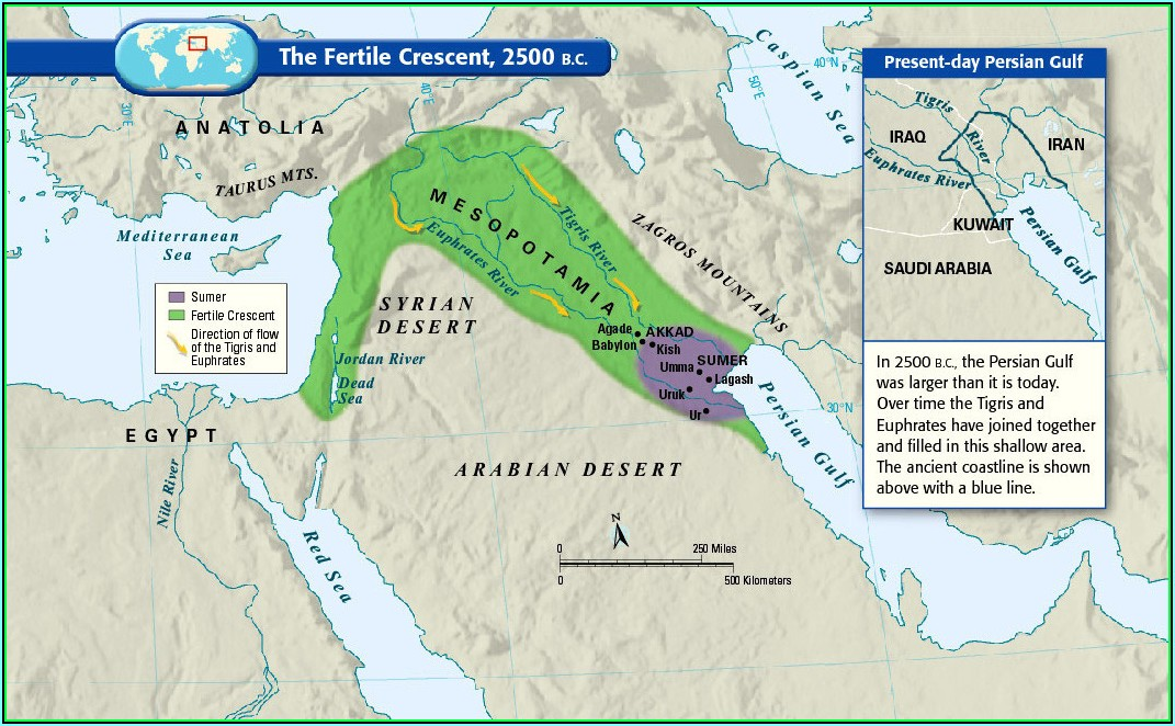 Ancient Map Of Middle East With Cities