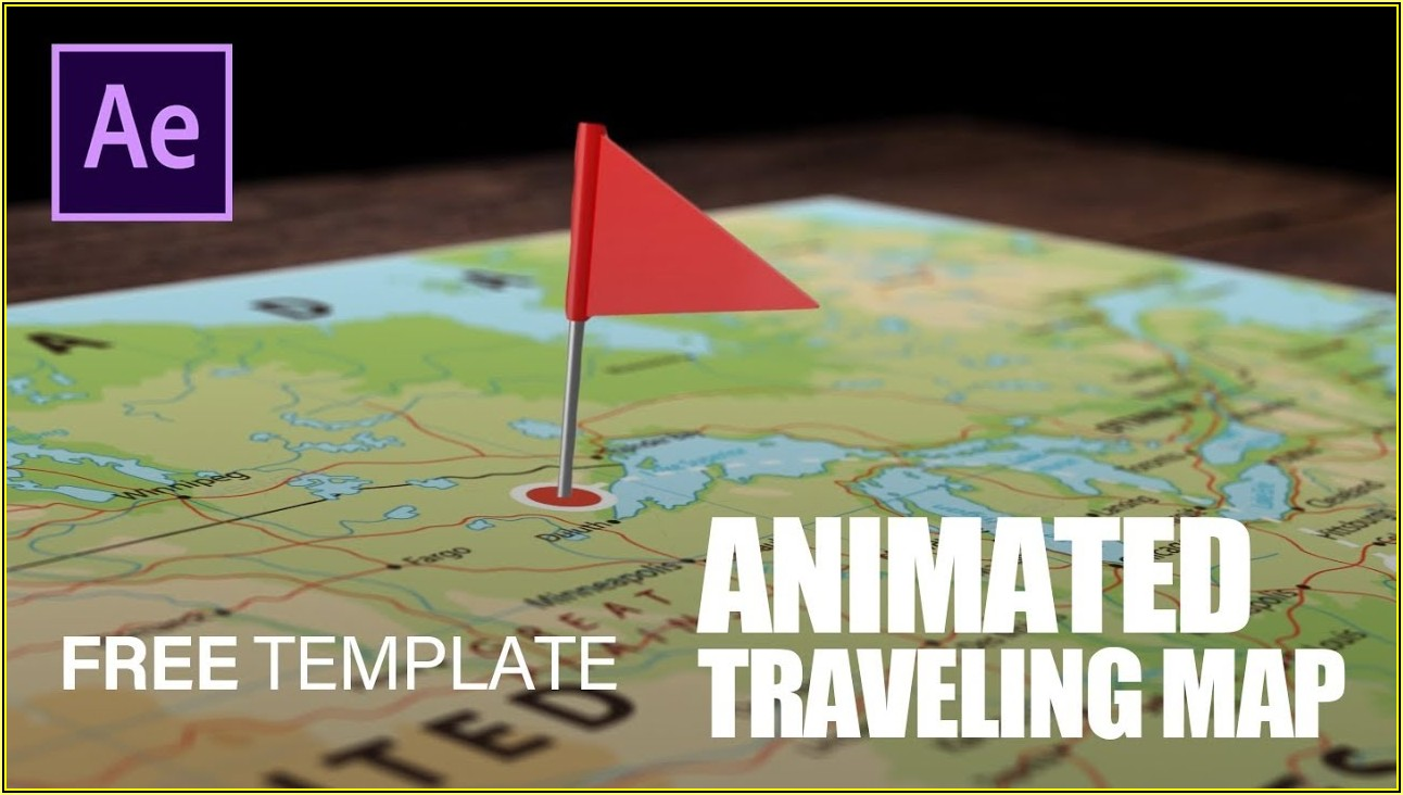 Animated Map Path After Effects Template Free