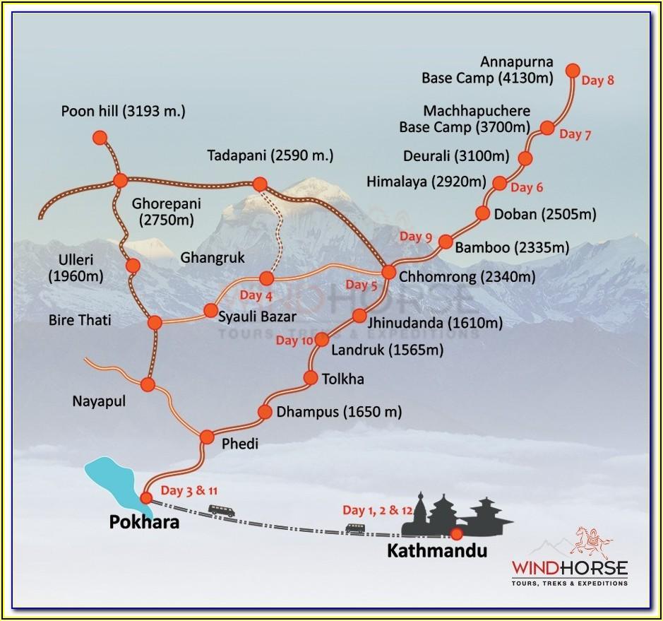 Annapurna Trekking Route Map