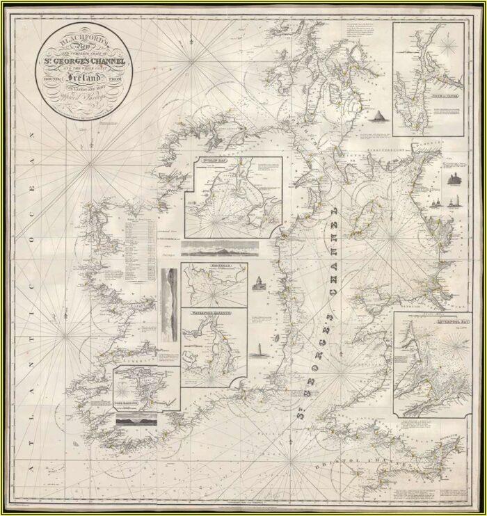 Antique Nautical Maps For Sale