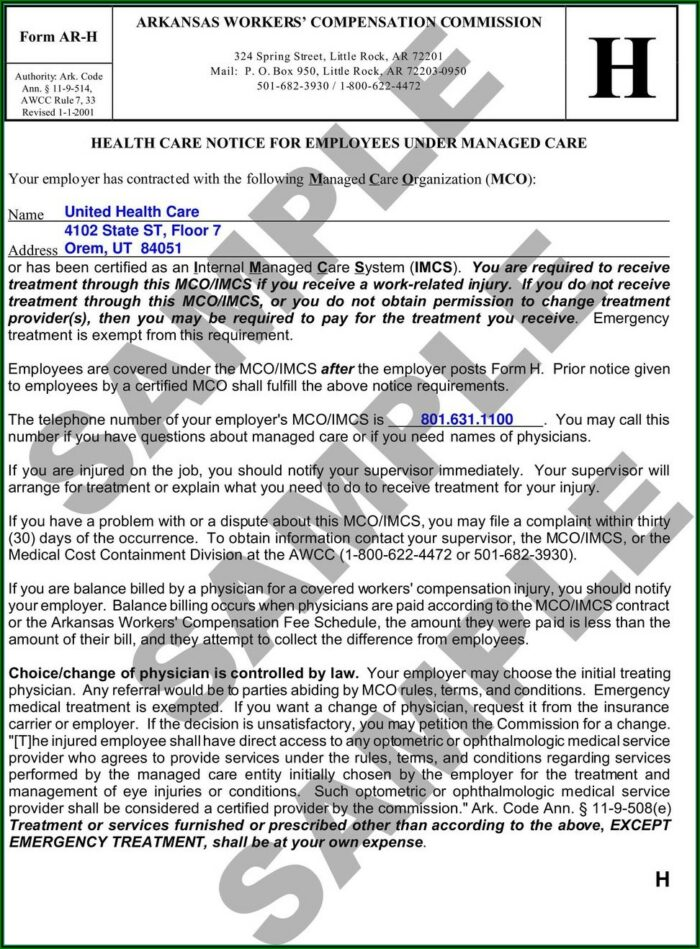 Arkansas Workers Comp Waiver Form