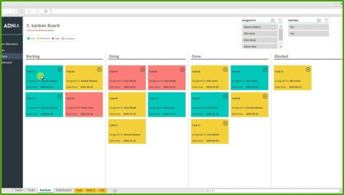Automated Kanban Excel Template Download