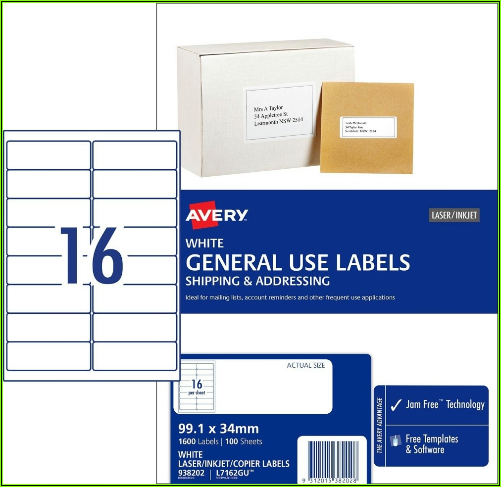 Avery Mailing Labels 10 Per Page Template