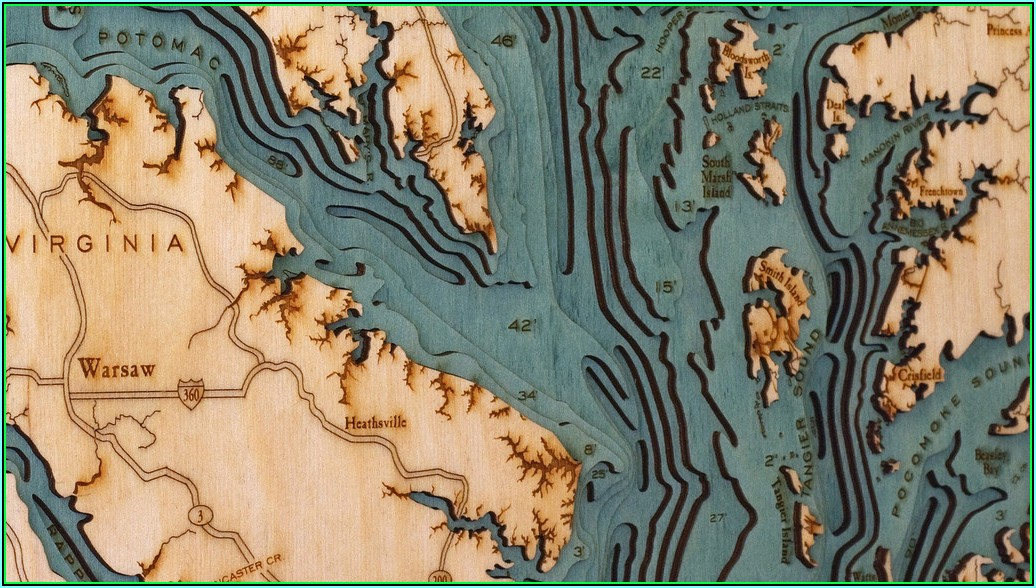 Bathymetric Maps For Sale