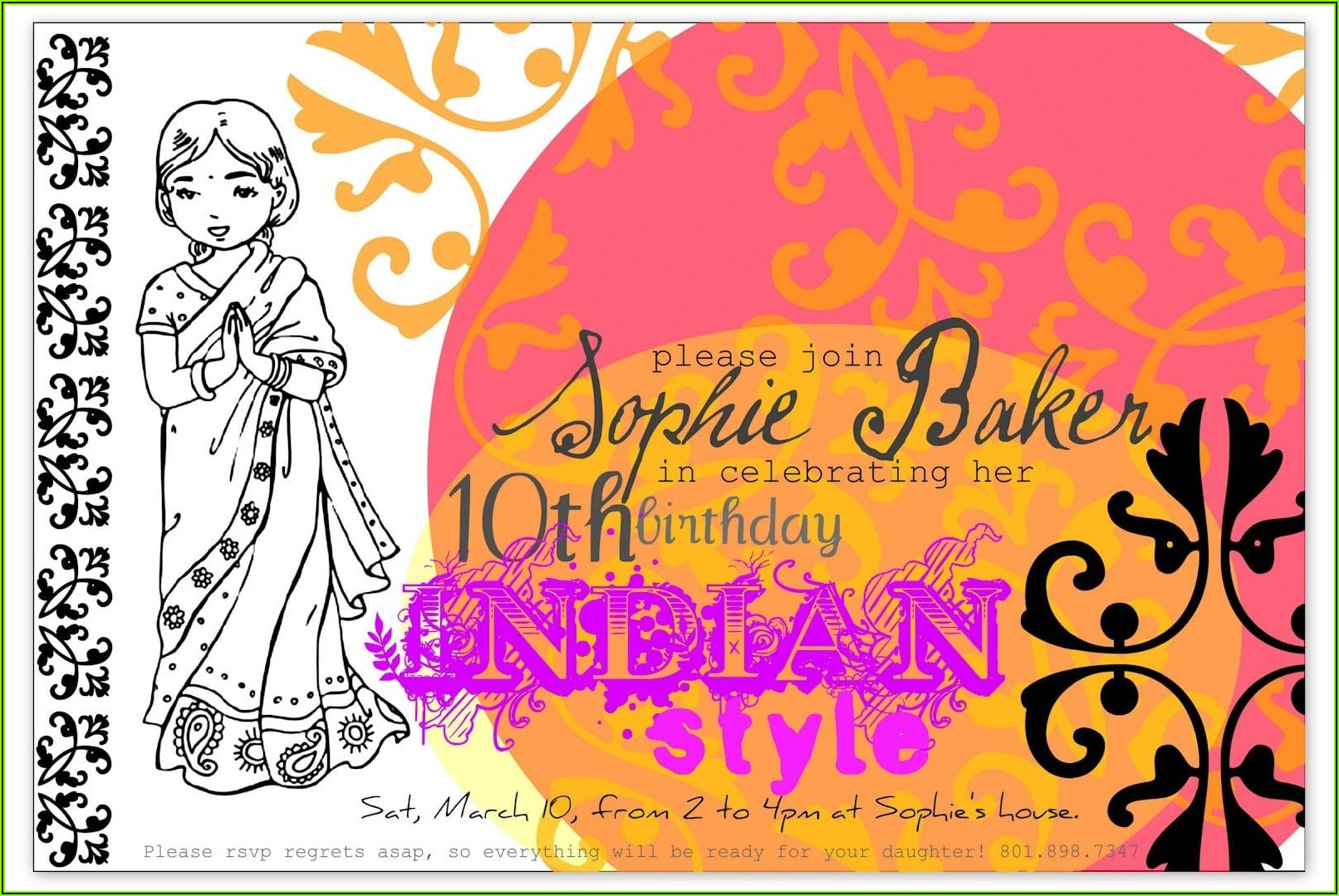 Bollywood Theme Party Invitation Template