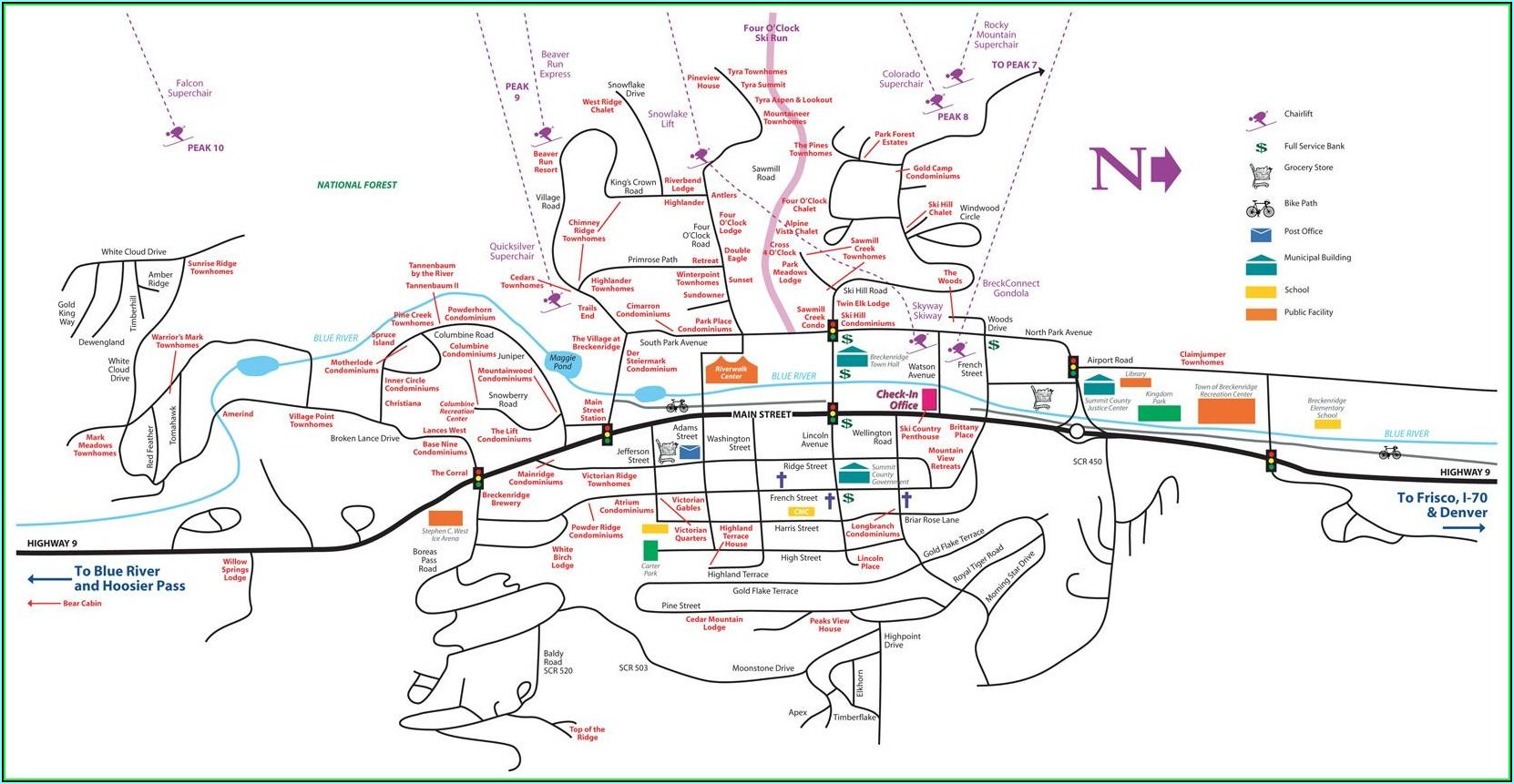 Breckenridge Condo Map