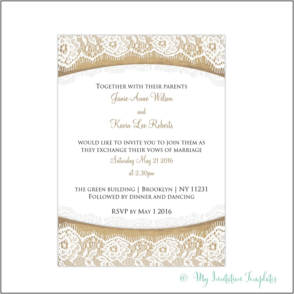 Burlap And Lace Template