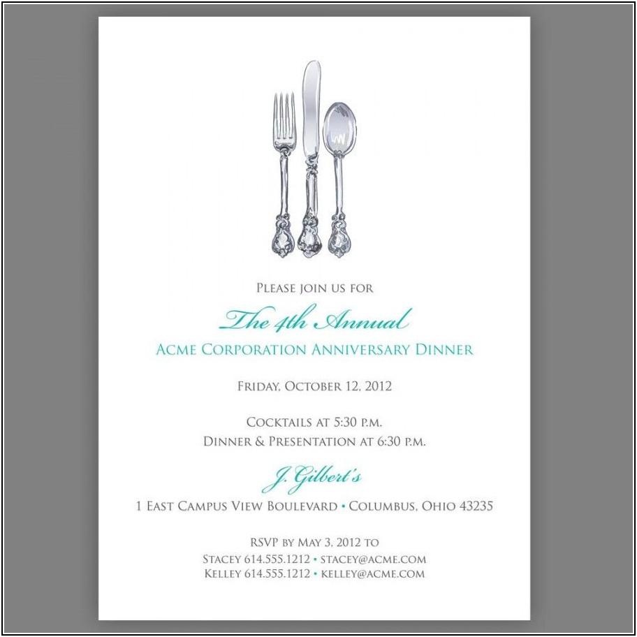 Business Luncheon Invitation Template