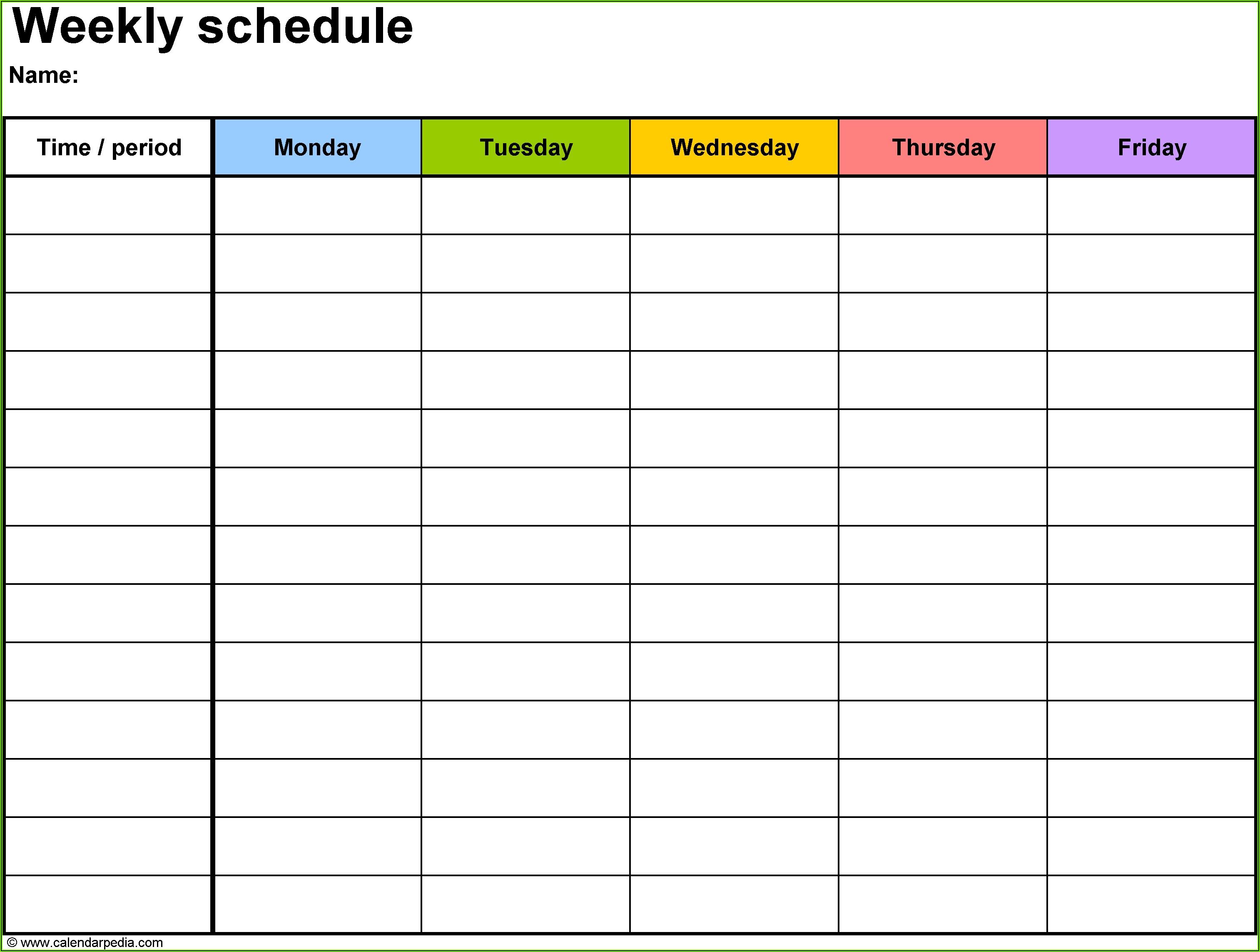 Calendar Planner Template Free Download