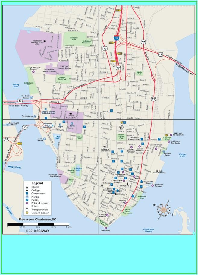 Charleston South Carolina Hotel Map