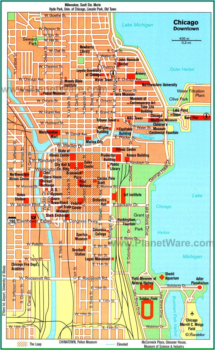 Chicago Hop On Hop Off Trolley Tour Map