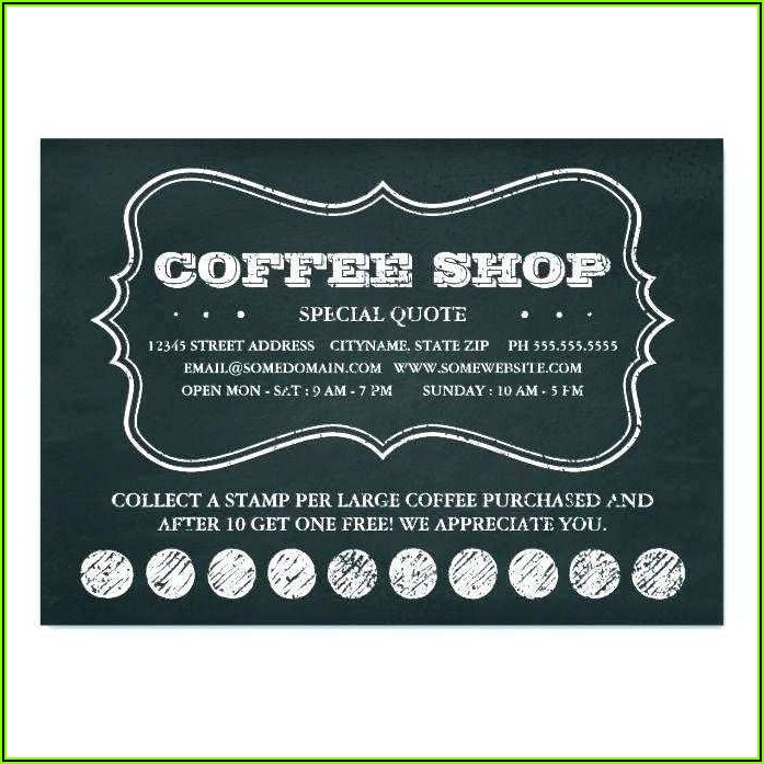 Coffee Loyalty Card Template Free Download