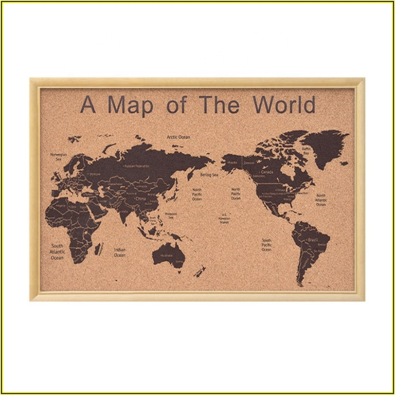 Cork Board Wall Map