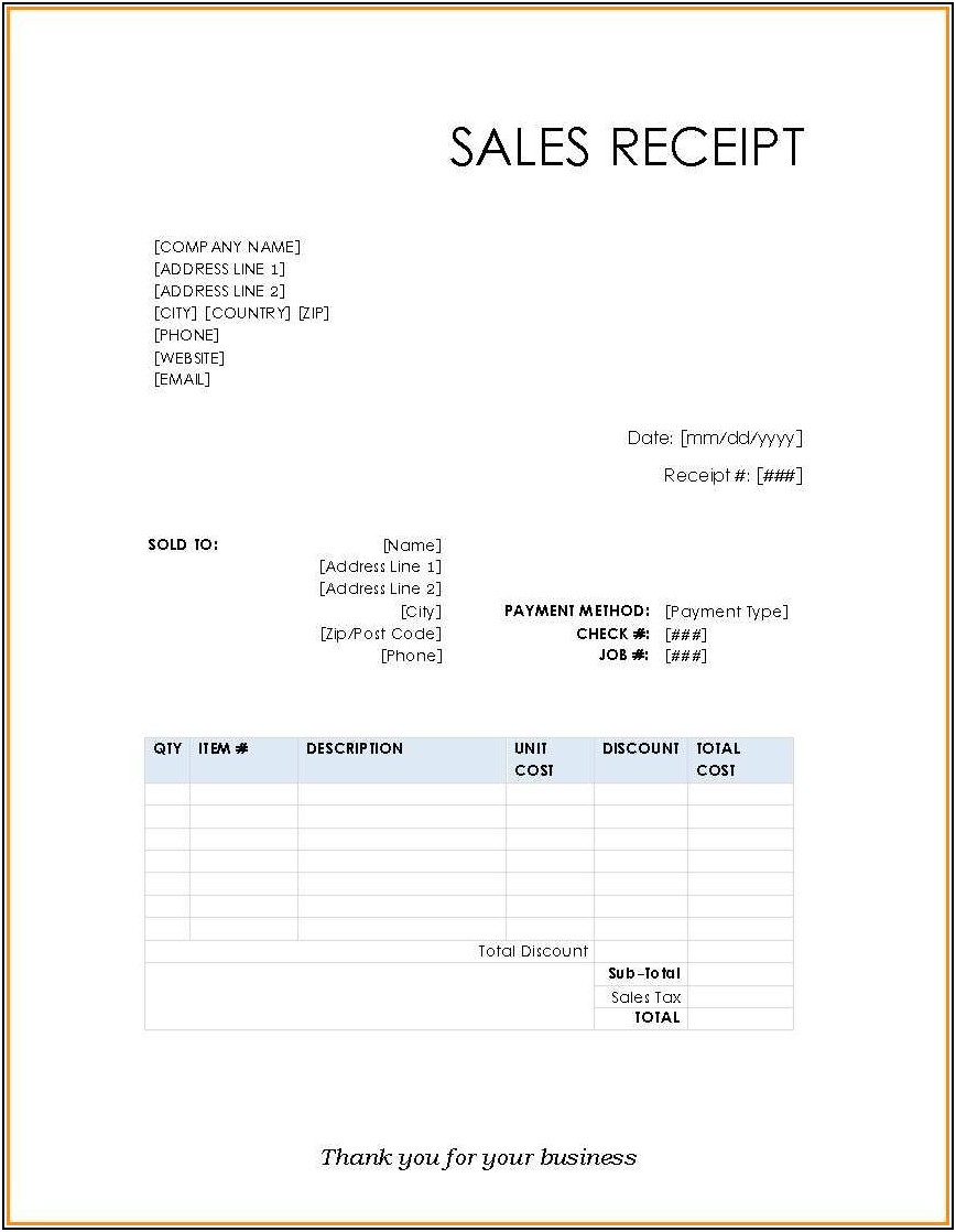 Credit Card Invoice Template