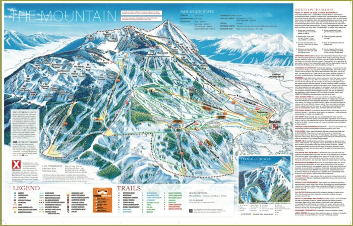 Crested Butte Mountain Lodging Map