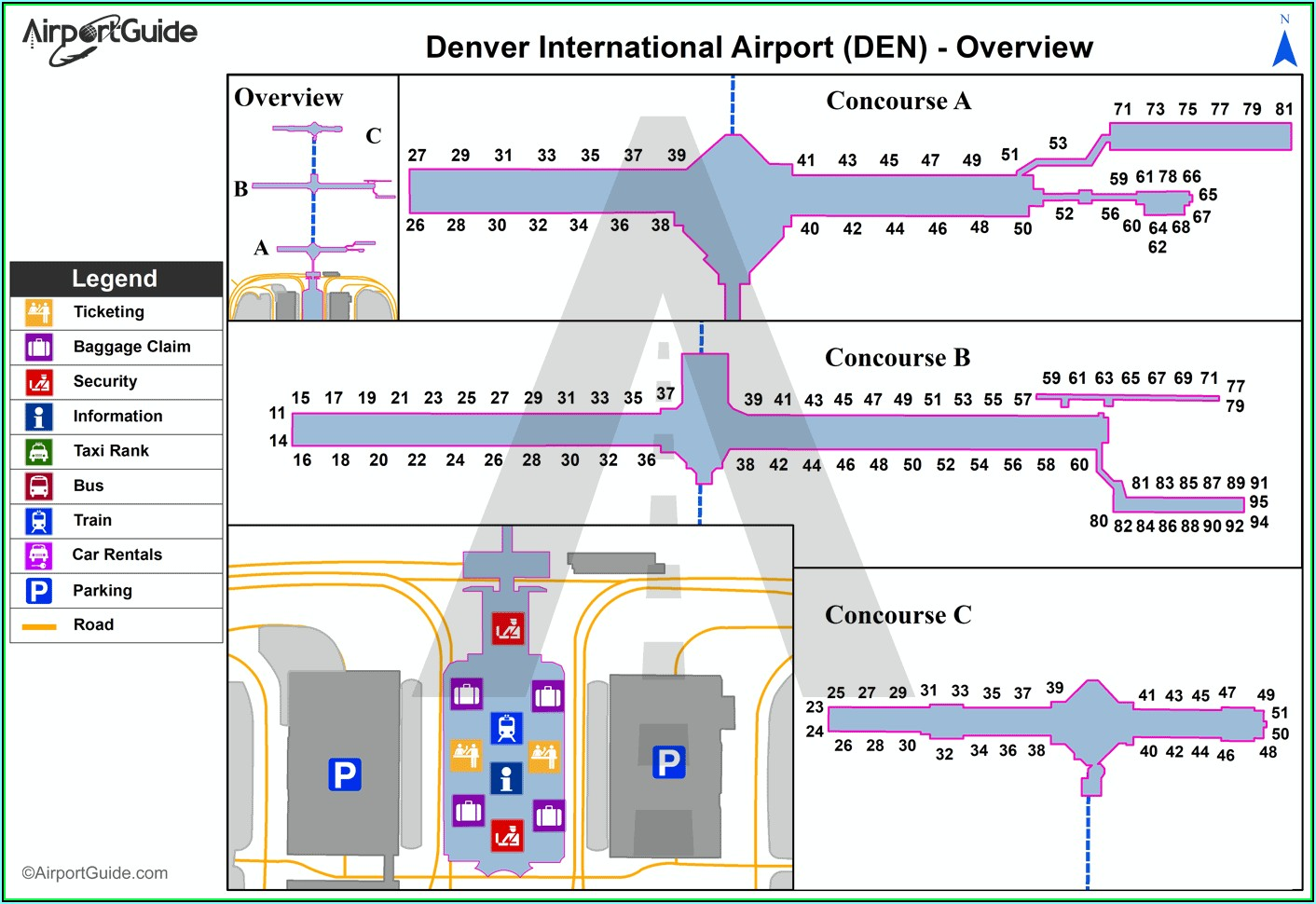 Denver Airport Car Rental Locations Map