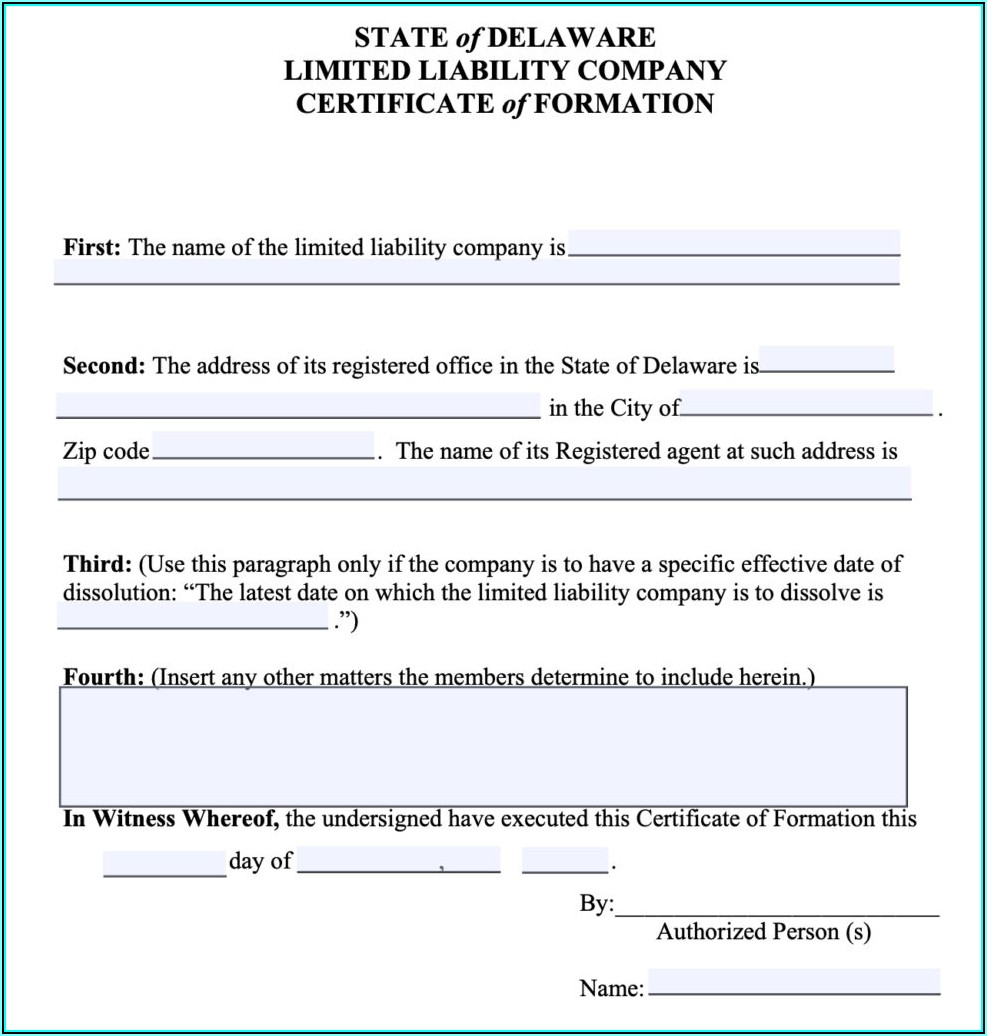 Dissolution Delaware Llc Forms