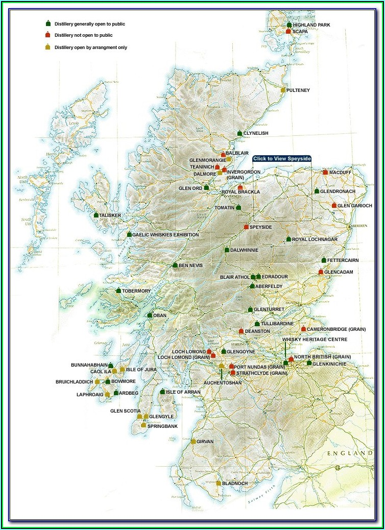 Distillery Map Of Scotland