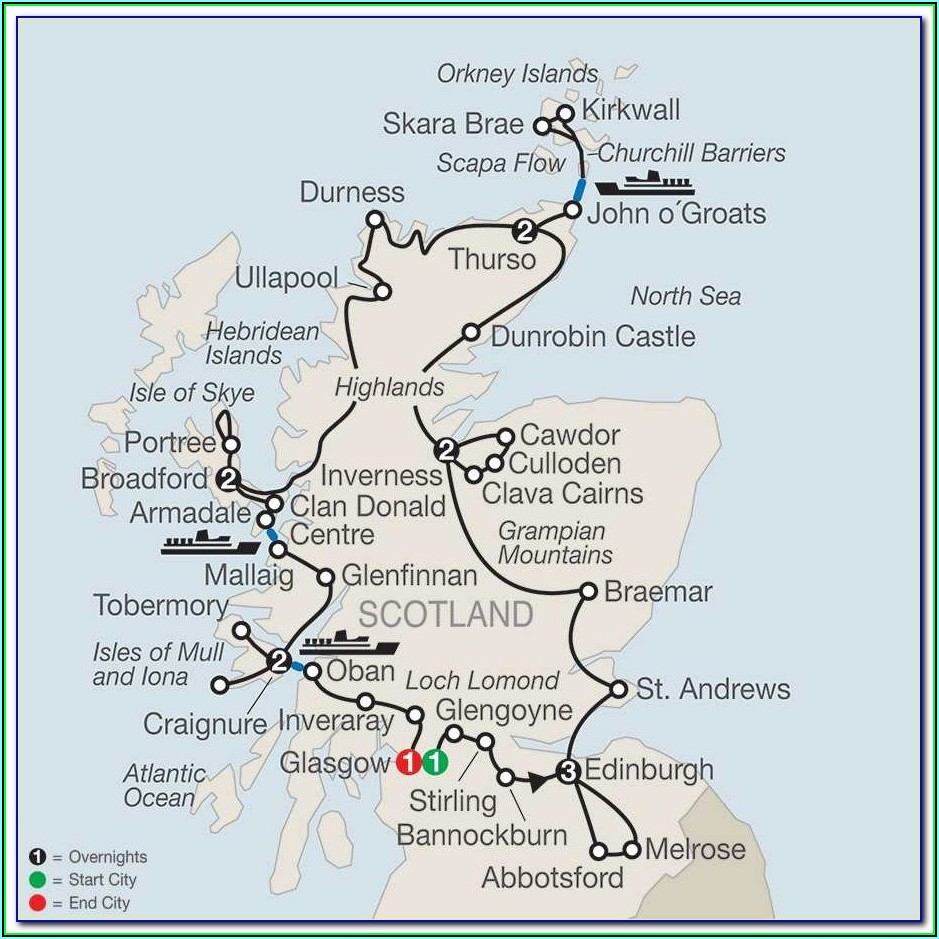 Distillery Map Scotland Highlands