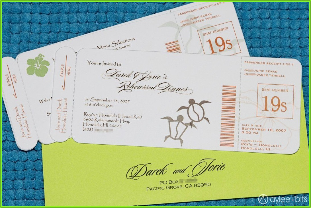 Diy Boarding Pass Save The Date Template