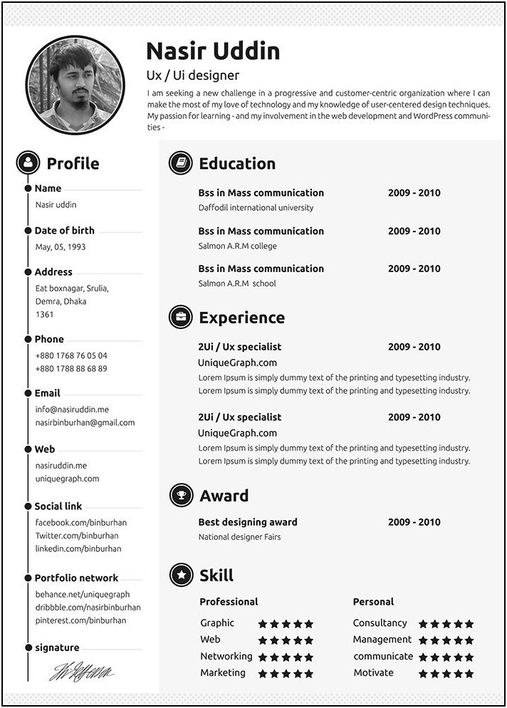 Downloadable Resume Templates 2018