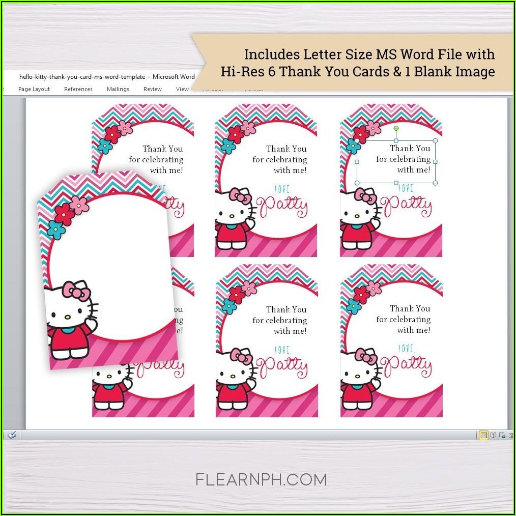 Editable Hello Kitty Invitation Template Blank