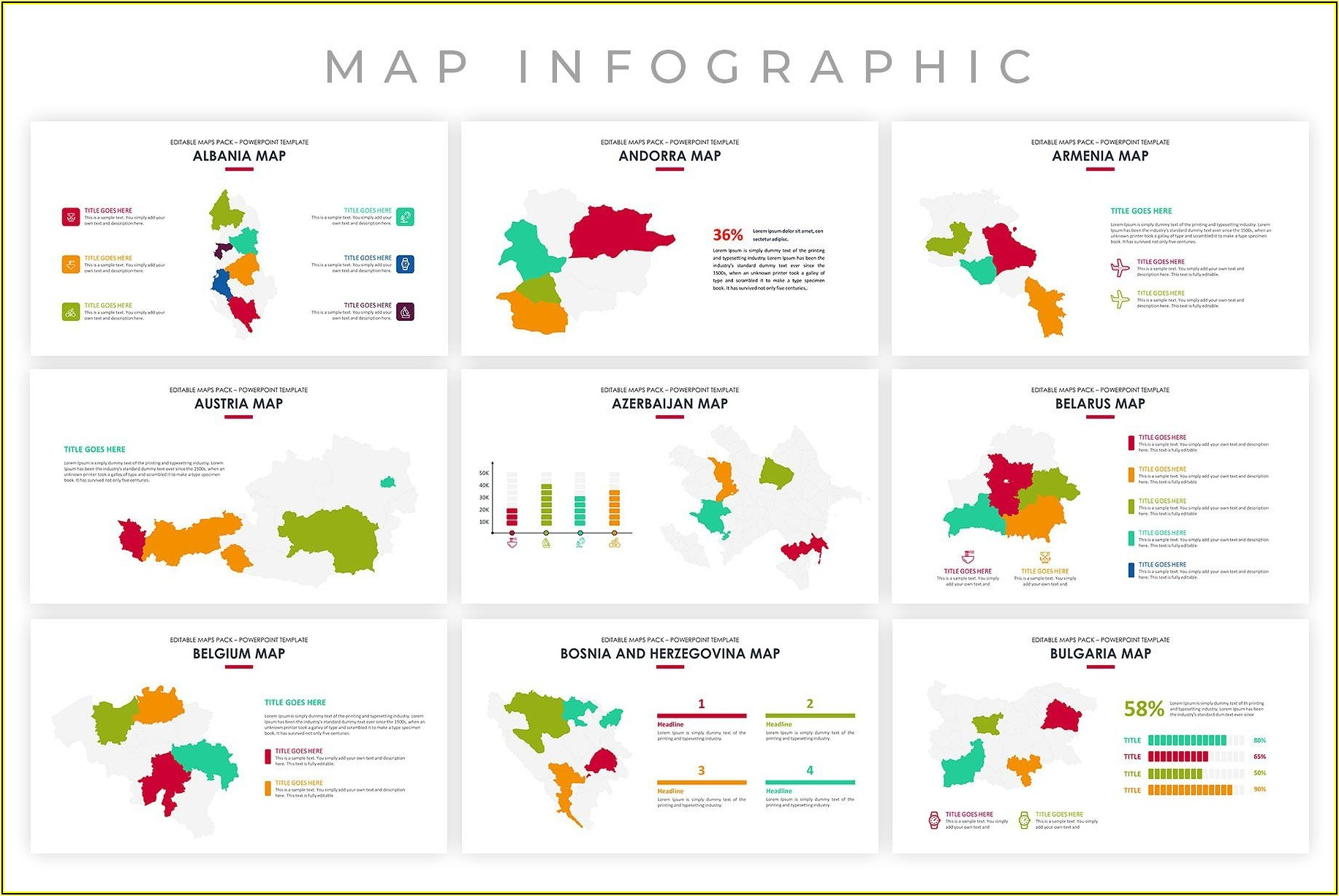 Editable Maps Powerpoint