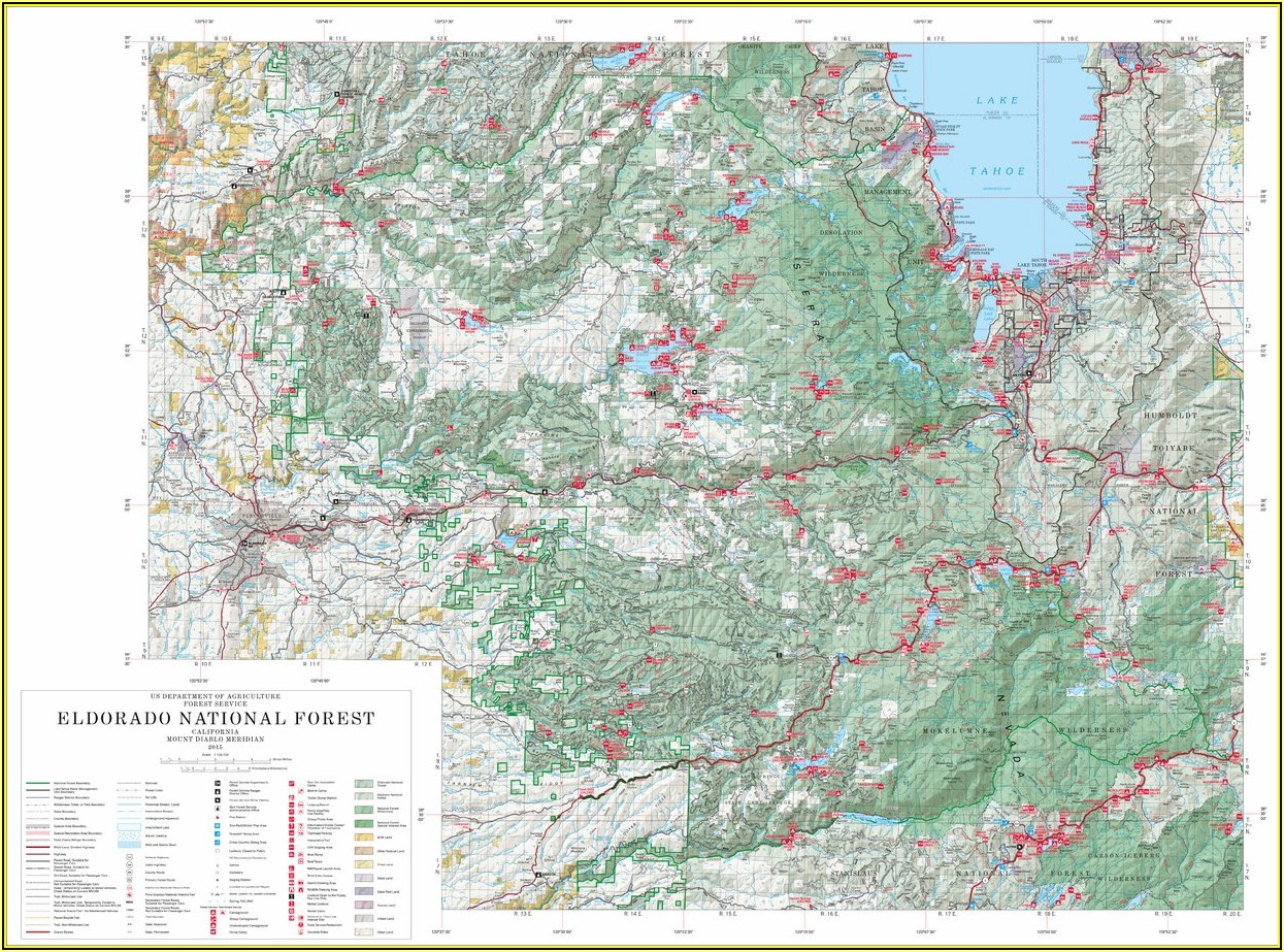 Eldorado National Forest Trail Map