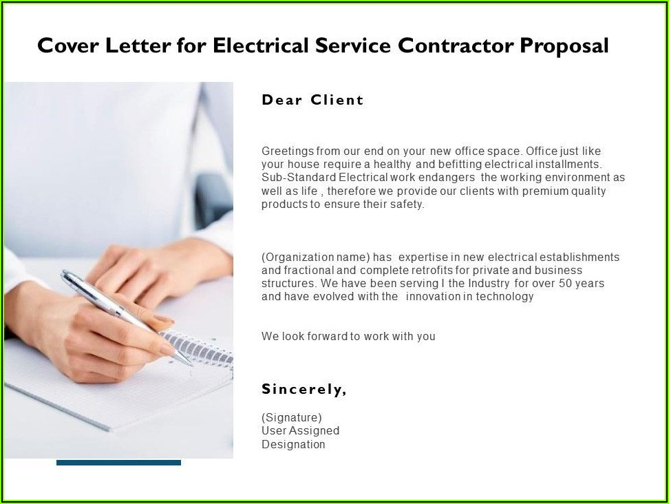 Electrical Proposal Template Free Download