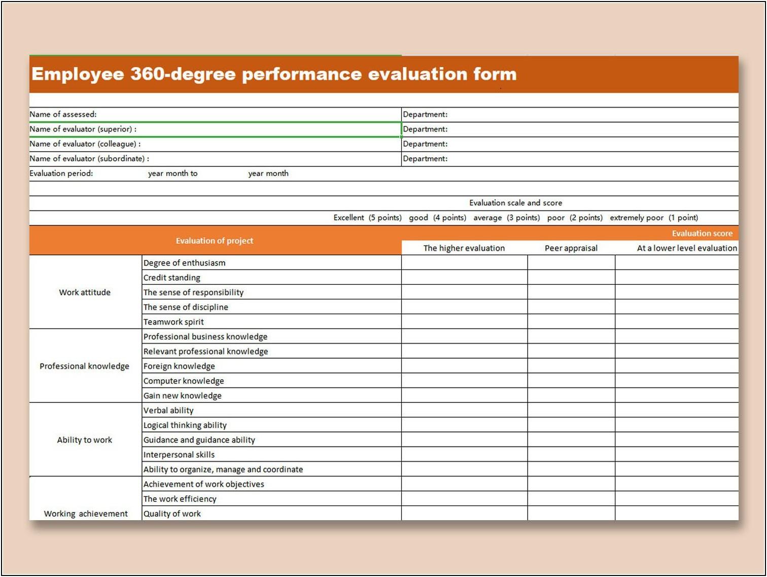 Employee Evaluation Templates