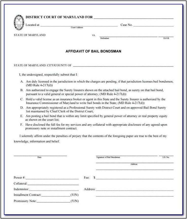Example Affidavit For Family Court