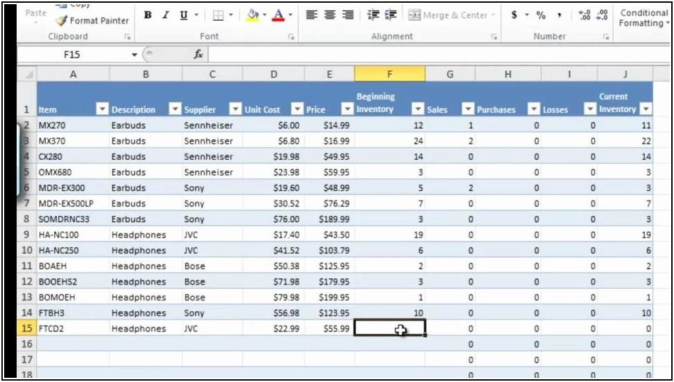 Excel Erp Template Download