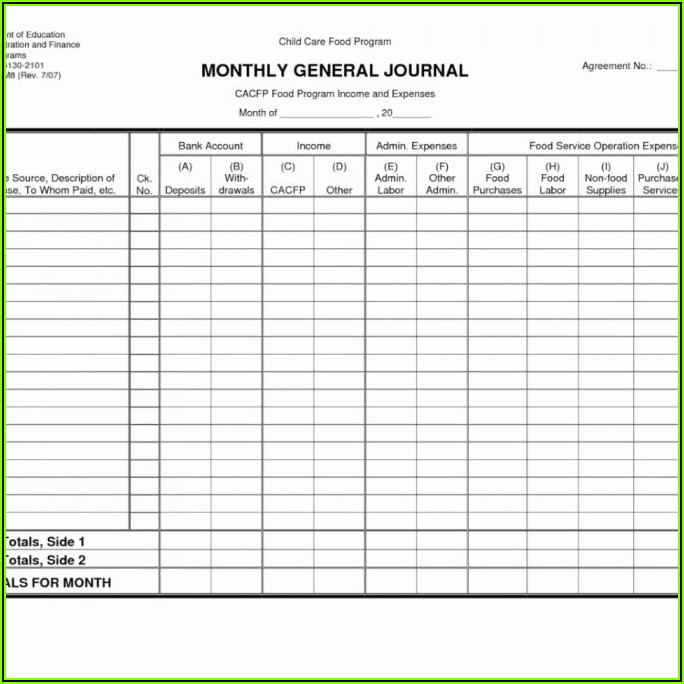 Farm Expense Spreadsheet Template