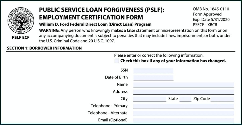 Federal Loan Forgiveness Forms