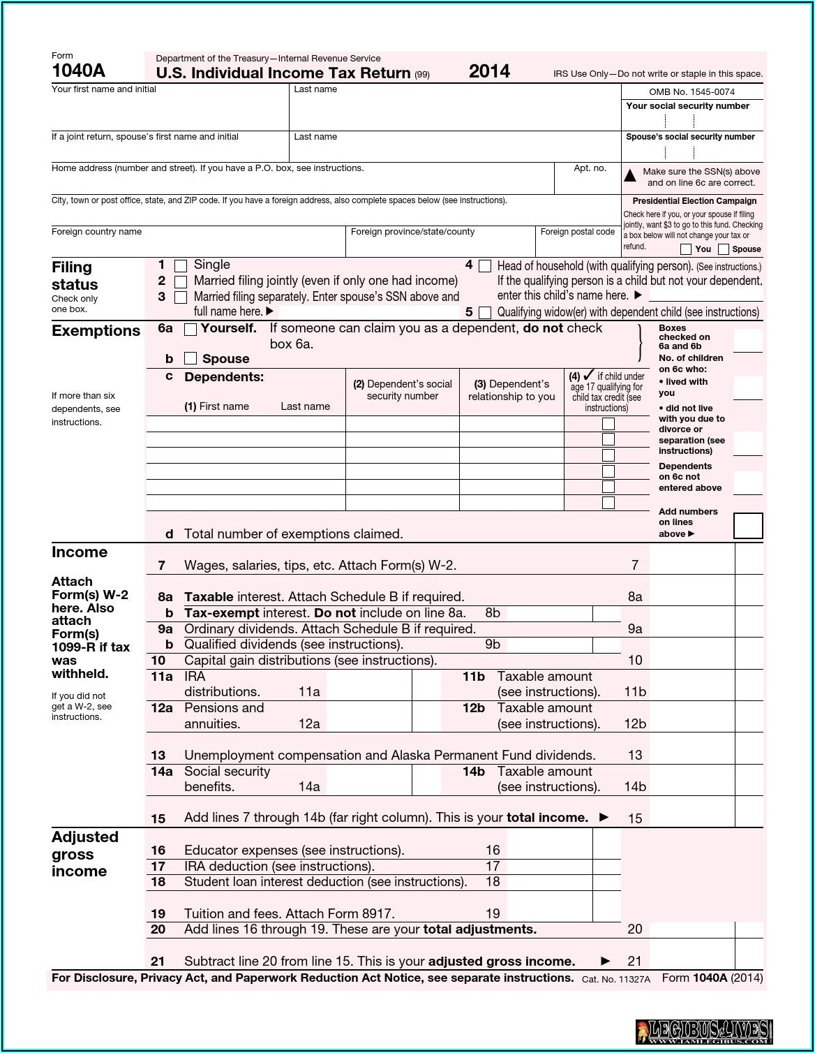Federal Tax Ez Form Instructions