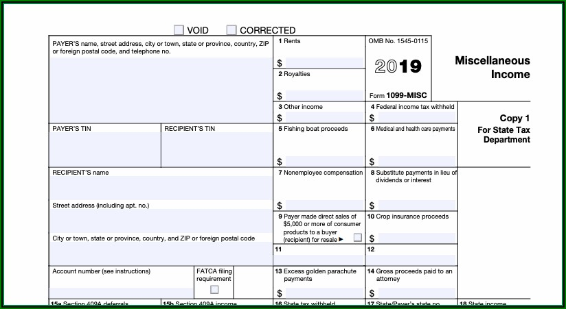 Filing Form 1099 With Irs