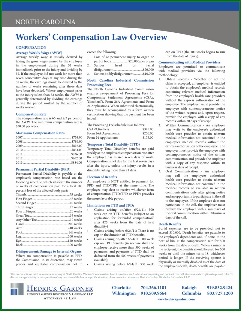 Form 26a Workers Comp Nc
