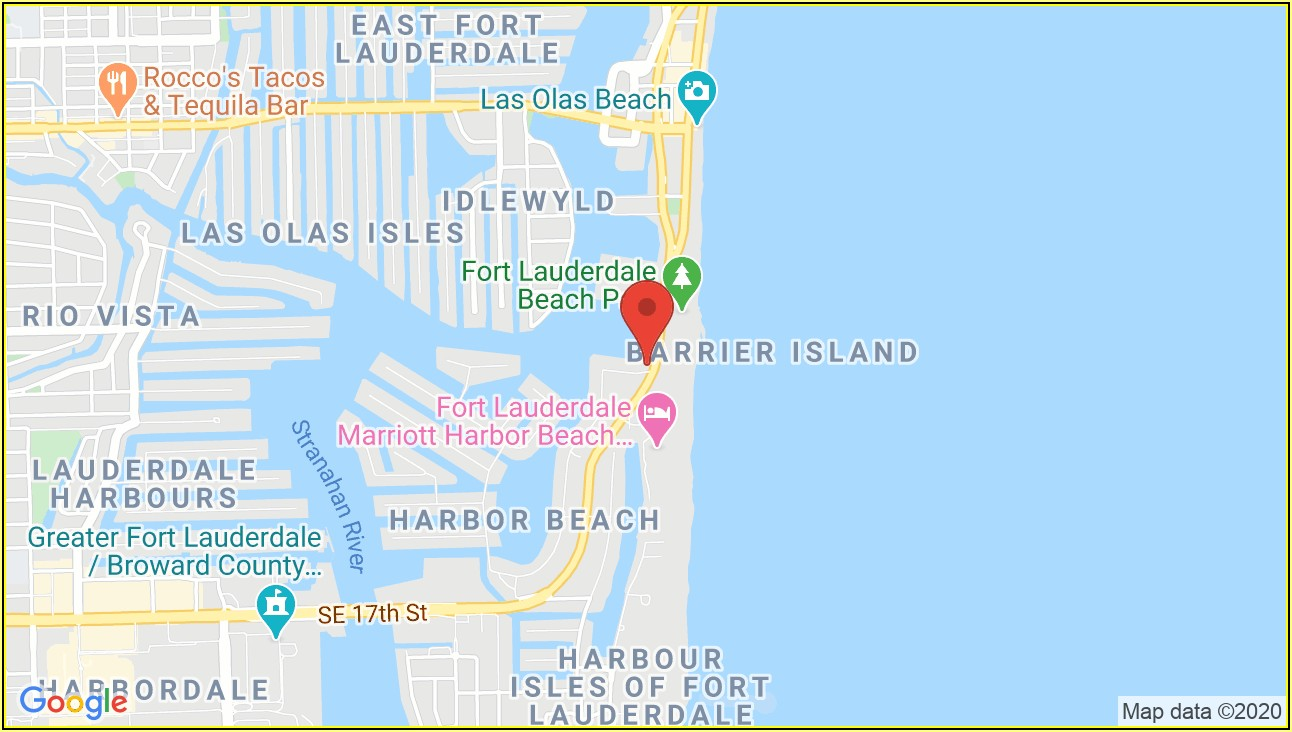 Fort Lauderdale Hotel Map