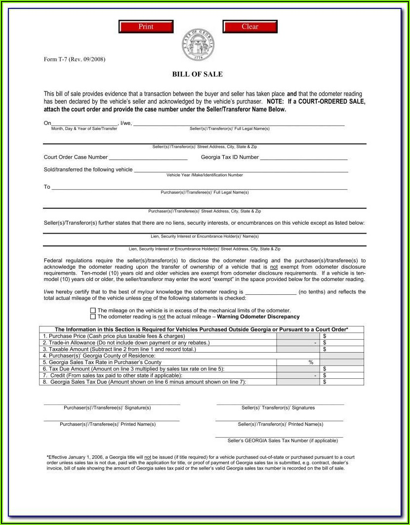 Free Boat Bill Of Sale Template Download